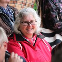 Bei Wind und Wetter unterwegs: Elisabeth Gerner auf dem Umweltgartenfest